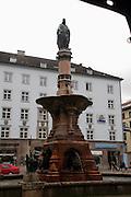 Austria, Tyrol, Innsbruck, Rudolph's Fountain in Bozner Platz