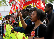 Confédération générale du travail protestors, May Day March, Paris, 1 May 2009
