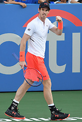 August 1, 2018 - Washington, D.C, U.S - ANDY MURRAY pumps his fist during his 2nd round match at the Citi Open at the Rock Creek Park Tennis Center in Washington, D.C. (Credit Image: © Kyle Gustafson via ZUMA Wire)