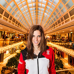 28.01.2014, Marriott, Wien, AUT, Sochi 2014, Einkleidung OeOC, im Bild  Julia Dujmovits (AUT) // Julia Dujmovits  of Austria during the outfitting of the Austrian National Olympic Committee for Sochi 2014 at the  Marriott in Vienna, Austria on 2014/01/28. EXPA Pictures © 2014, PhotoCredit: EXPA/ JFK