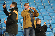 Mancheseter City Fans during the Champions League match between Manchester City and FC Basel at the Etihad Stadium, Manchester, England on 7 March 2018. Picture by Mark Pollitt.