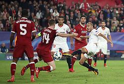 Sevilla's Guido Pizarro scores his side's third goal