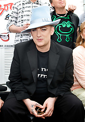 Boy George <br /> <br /> announcing the come back of the Boy George musical 'Taboo' at Brixton Club House in September 2012 <br /> <br /> press conference <br /> 26th June 2012 <br /> <br /> <br /> Boy George<br /> <br /> <br /> Photograph by Elliott Franks