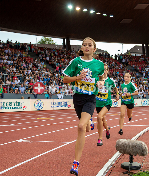 1000m Girls pursuit race Mille Gruyere during the Iaaf Diamond League meeting (Weltklasse Zuerich) at the Letzigrund Stadium in Zurich, Switzerland, Thursday, Aug. 29, 2019. (Photo by Patrick B. Kraemer / MAGICPBK)