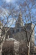 New York  municipal building  and City hall art deco lower manhattan new york   / le municipal building   et la mairie de New York