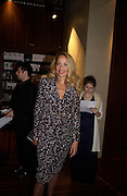 Jerry Hall, Hitchcock Blonde Gala dinner at the Royal Court Theatre hosted by Emily Oppenheimer. 23 April 2003.  © Copyright Photograph by Dafydd Jones 66 Stockwell Park Rd. London SW9 0DA Tel 020 7733 0108 www.dafjones.com