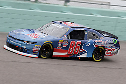 November 16, 2018 - Homestead, FL, U.S. - HOMESTEAD, FL - NOVEMBER 16: Brandon Brown, driver of the #86 Coalition to Salute America's Heros Chevy, during practice for the NASCAR Xfinity Series playoff race, the Ford EcoBoost 300 on November 16, 2018, at Homestead-Miami Speedway in Homestead, FL. (Photo by Malcolm Hope/Icon Sportswire) (Credit Image: © Malcolm Hope/Icon SMI via ZUMA Press)