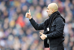 Manchester City manager Pep Guardiola gestures on the touchline during the Premier League match at Turf Moor, Burnley.
