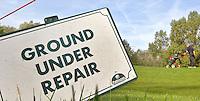 VELSEN - GUR of Ground Under Repair op Openbare golfbaan Spaarnwoude. Copyright KOEN SUYK