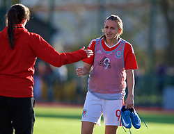 YSTRAD MYNACH, WALES - Wednesday, April 5, 2017: Wales' Kayleigh Green walks off the pitch after the 3-1 win in the Women's International Friendly match against Northern Ireland at Ystrad Mynach. (Pic by Laura Malkin/Propaganda)