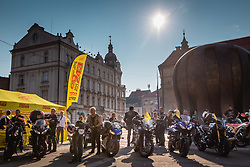 Bikers gathering before sprejem Tima Gajsreja, on Avgust 27, 2019 in Maribor, Slovenia. Photo by Blaž Weindorfer / Sportida