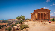 Temple of Concordia, Agrigento, Sicily. Built in around 430BC is one of the most perfect works of Doric architecture and has been preserved thanks to its transformation into a Christian basilica from the sixth century to 1748.