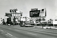 1973 Looking east on Sunset Blvd. towards Crescent Heights Blvd. and Schwab's Pharmacy