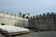 Inside Kamerlengo fortress, used for cultural performances and an outdoor theatre. Trogir, Croatia