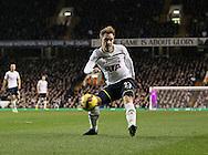 Tottenham's Christian Eriksen scoring his sides opening goal<br /> <br /> Barclays Premier League- Tottenham Hotspur vs Everton - White Hart Lane - England - 30th November 2014 - Picture David Klein/Sportimage