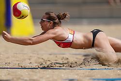 23-08-2019 NED; DELA NK Beach Volleyball Qualification, Scheveningen<br /> First day NK Beachvolleyball / Esther van Berkel
