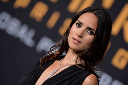 Adria Arjona attends the Pacific Rim Uprising global premiere at the TCL Chinese Theatre on March 21, 2018 in Los Angeles, CA, USA. Photo by Lionel Hahn/ABACAPRESS.COM