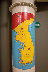 Steam Pipe With North & South Korea Map, The USS Missouri, Pearl Harbor