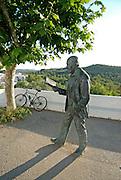 Monument to poet Marià Villangómez Llobet, born in Ibiza(1913-2002). The sculpture is located in front of the church of San Miguel de Balansat, Ibiza