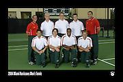 2004 Miami Hurricanes Men's Tennis Team Photo