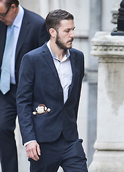 © Licensed to London News Pictures. 13/07/2017. London, UK. Chris Gard arrives at The High Court in London. The parents of terminally ill Charlie Gard have returned to the High Court in light of new evidence relating to potential treatment for their son's condition. An earlier lengthy legal battle ruled that Charlie could not be taken to the US for experimental treatment. London, UK. Photo credit: Peter Macdiarmid/LNP
