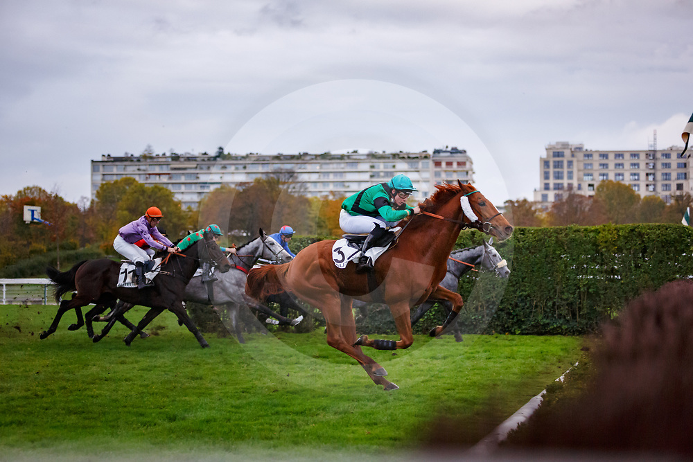Red Rocky (S. Cossart) wins Prix Oeneas, Hurdles, Auteuil, France 04/11/2017, photo: Zuzanna Lupa