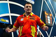 Matthew Edgar (England) wins, celebrates, during the William Hill World Darts Championship at Alexandra Palace, London, United Kingdom on 20 December 2020.