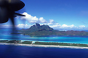 Plane of Bora Bora, French Polynesia<br />