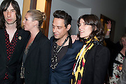BOBBY GILLESPIE; KATE MOSS; JAMIE HINCE; BELLA FREUD, Art Plus Music Party 2010. Whitechapel art Gallery.  To raise money for the gallery';s education and community programme. 22 April 2010.