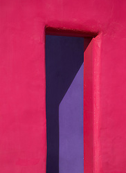 colorfully painted doorway