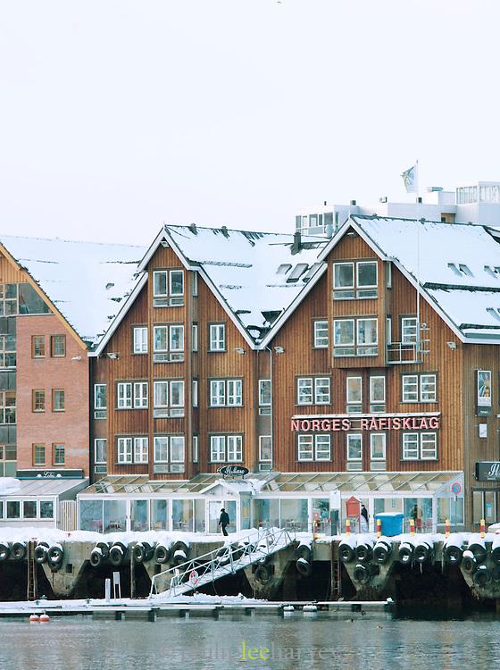 Buildings at the dock in Tromso, Norway