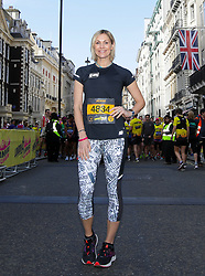 Jenni Falconer ahead of the 2019 London Landmarks Half Marathon.