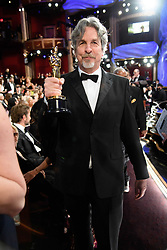 Peter Farrelly poses with the Oscar® for original screenplay during the live ABC Telecast of The 91st Oscars® at the Dolby® Theatre in Hollywood, CA on Sunday, February 24, 2019.