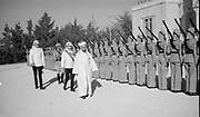 24th anniversary of Arab revolt under King Hussein & Lawrence 1940. The Emir inspecting the Guard of Honour.