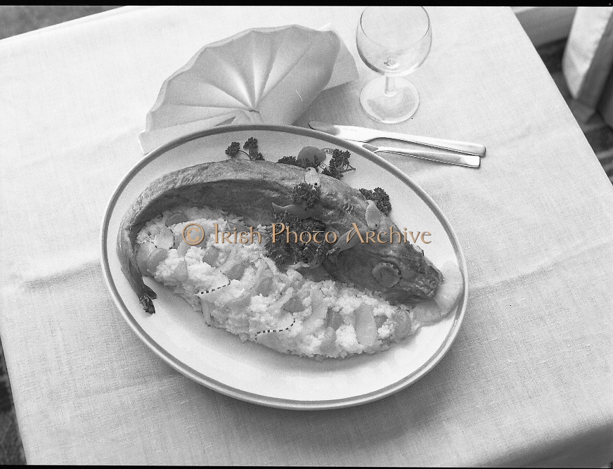 """""""The National Fish Cookery Award""""..1982.29.04.1982..04.29.1982.29th April 1982.""""The National Fish Cookery .This competition sponsored by Bord Iascaigh Mhara was held in The Clare Inn, Newmarket-on Fergus,Co Clare. the competition was open to schools across the country..""""Pineapple stuffed cod"""", the winning entry from Catherine O'Sullivan,(15),Vocational School, Rathdowney,Co Laois"""