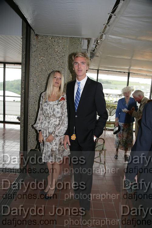 Lady Alexandra Gordon-Lennox and James Cook, Glorious Goodwood. 2 August 2007.  -DO NOT ARCHIVE-© Copyright Photograph by Dafydd Jones. 248 Clapham Rd. London SW9 0PZ. Tel 0207 820 0771. www.dafjones.com.
