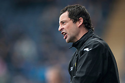 Dumbarton's Jack Ross, ass manager.<br /> Falkirk 1 v 2 Dumbarton, Scottish Championship game played today at the Falkirk Stadium.<br /> ©Michael Schofield.