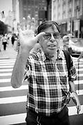Old man in the street,  Manhattan. New York City, 23 june 2010. Christian Mantuano / OneShot