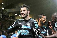 Joie Marseille - Andre Pierre GIGNAC - 01.05.2015 - Metz / Marseille - 35e journee Ligue 1<br /> Photo : Fred Marvaux / Icon Sport