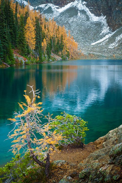 Blue Lake shoreline, North Cascades