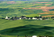 View of the town of Steptoe from Steptoe Butte.