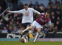 Photo: Olly Greenwood.<br />West Ham United v Tottenham Hotspur. The Barclays Premiership. 04/03/2007. Tottenham's Jermaine Jenas and  West Ham's Mark Noble