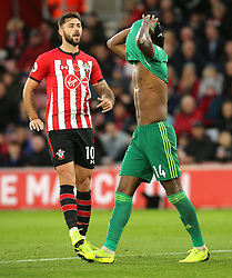 Watford's Nathaniel Chalobah reacts during the Premier League match at St Mary's Stadium, Southampton.