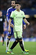 Manuel Garcia of Manchester City looks on. The Emirates FA Cup, 5th round match, Chelsea v Manchester city at Stamford Bridge in London on Sunday 21st Feb 2016.<br /> pic by John Patrick Fletcher, Andrew Orchard sports photography.