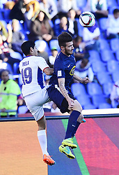 Dec. 20, 2014 - Marrakech, Morocco - C. Azul midfield ALEJANDRO VELA (L) and Auckland City forward FABRIZIO TAVANO (R) during the match 7 between Cruz Azul FC vs Auckland City FC at Grand Marrakech Stadium.  (Credit Image: RealTime Images)