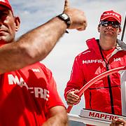© Maria Muina I MAPFRE. Cape Town practice race on board MAPFRE. / Regata de entrenamiento a bordo del MAPFRE en Ciudad del Cabo.