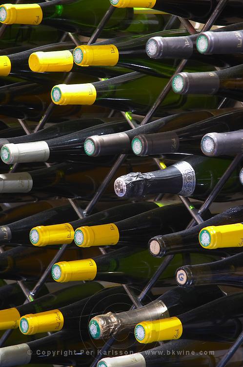 wine shop bottle necks dom paul zinck eguisheim alsace france