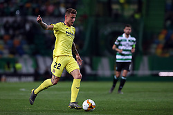 February 14, 2019 - Lisbon, Portugal - Villarreal's forward Dani Raba in action during the UEFA Europa League Round of 32 First Leg football match Sporting CP vs Villarreal CF at Alvalade stadium in Lisbon, Portugal on February 14, 2019. (Credit Image: © Pedro Fiuza/NurPhoto via ZUMA Press)
