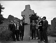 05/06/1959<br /> 06/05/1959<br /> 05 June 1959<br /> Portuguese Travel Agents and Journalists on tour of Wicklow. The group that travelled on the Inaugural Aer Lingus Lisbon-Dublin Flight on Wed. 04/06/1959 pictured at Glendalough.