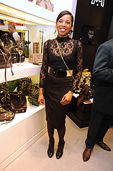 CLAUDETTE OBASANJO-MAJOMS daughter of the former President of Nigeria at the MCM Christmas party held at their store at 5 Sloane Street, London on 26th November 2008.